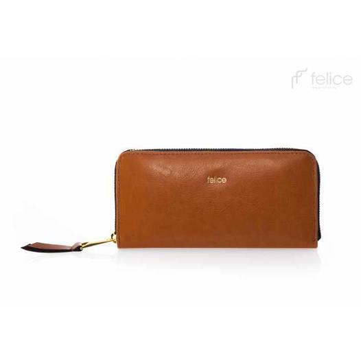 Кошелек женский кожаный коричневый Felice P02