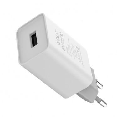 Сетевое зарядное устройство GOLF GF-U206Q QC3.0 Quick Charge 18W