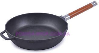 Сковорода чугунная Биол Классик высокая со съемной ручкой 26см 0326