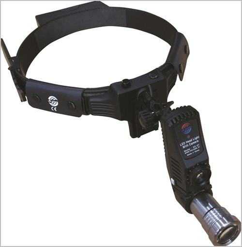 Налобный фонарь с видеокамерой и лупой KS-07