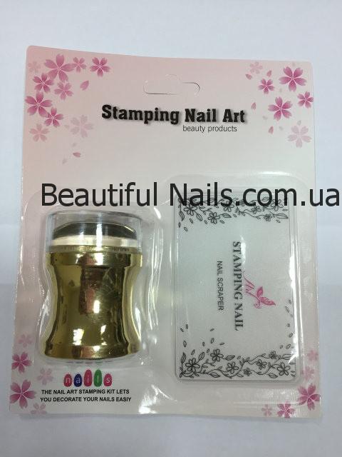 Набор для стемпинга штамп и скрапер Stamping Nail Art