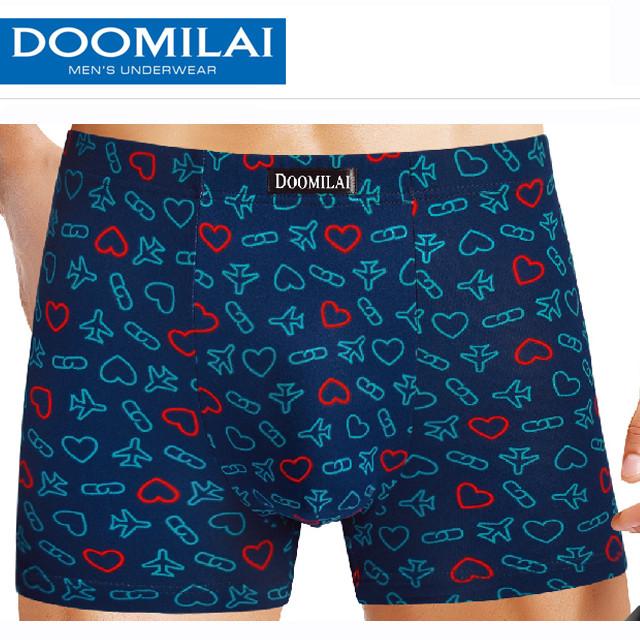 Мужские боксеры стрейчевые из бамбука  Марка  «DOOMILAI» Арт.D-01106
