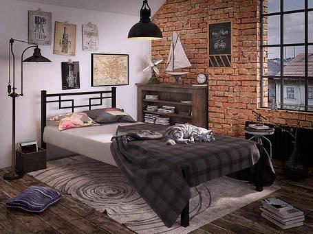 Кровать Фавор Мини Черный Бархат 90*190 (Tenero TM), фото 2