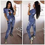 """Женский стильный костюм """"Муха"""": футболка и штаны, фото 2"""