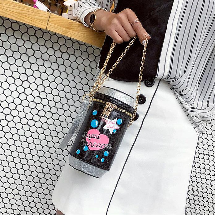 Блестящая сумочка в форме банки газировки