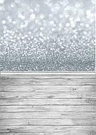 Глиттер серебро Фотофон двойной  размер 50*100 см