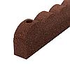 Бордюрна стрічка для саду MultyHome Зубці 10х5х120 см, теракотовий