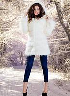 Шуба «Снежная королева» длиной 85 см