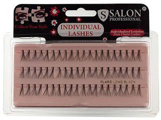 Накладные ресницы Salon Professional Flare Long, длинные черные