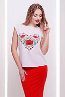 Футболка женская Киви б/р Цветы-сердце, футболки оптом, женская дизайнерская футболка, дропшиппинг  украина, фото 1