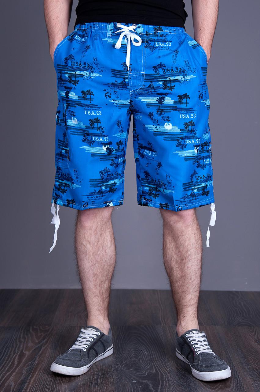 Чоловічі бриджі (плащівка), блакитного кольору