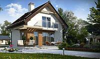 Деревянный каркасный дом 112 м2