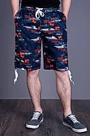 Мужские пляжные бриджи. Цвет - темно-синий