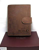 Чоловічий гаманець натуральна шкіра бренд Always Wild N4L-MH U Brown