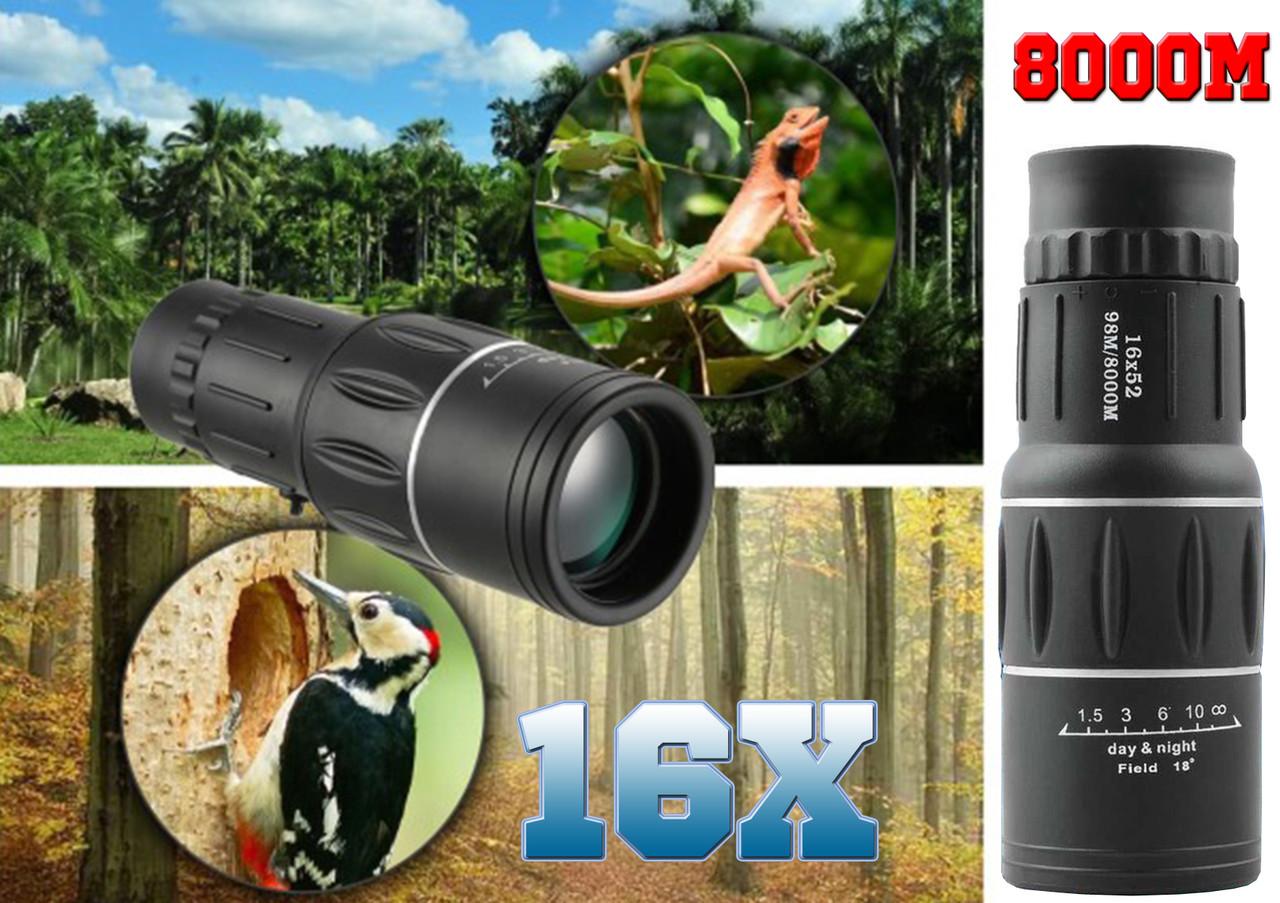 Монокуляр Bushnell 16x52. 16 кратный зум 8000 м, ночное видение .двойной фокус