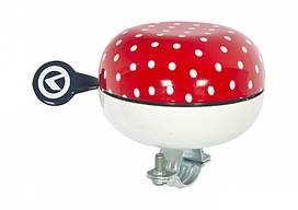Звонок KLS Bell 80 red white peas