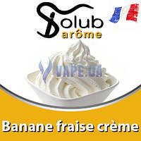 Ароматизатор Solub Arome - Banane fraise crème (Бананово-клубничный крем), 5 мл.