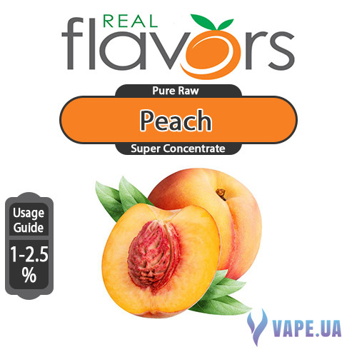Ароматизатор Real Flavors Super Concentrate Peach (Персик), 5 мл.
