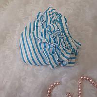 Трусики под памперс для девочки в бирюзовую полосочку, фото 1