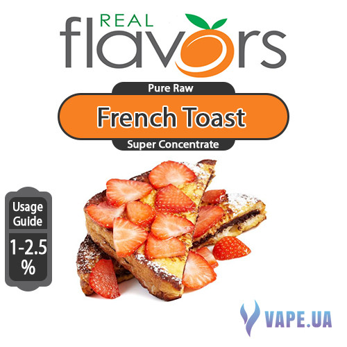 Ароматизатор Real Flavors Super Concentrate French Toast (Французькі тости), 5 мл.
