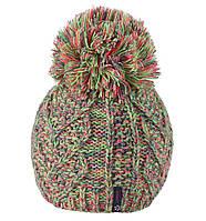 Меланжевая молодежная шапка STORCZYK NEON TM Loman, полушерстяная и на флисе, цвет зеленый, фото 1