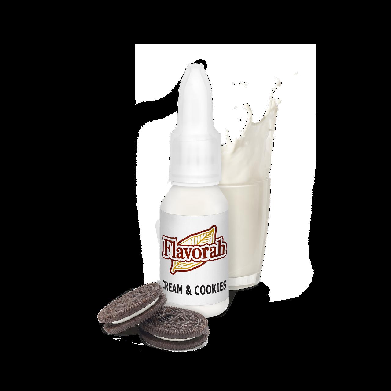 Ароматизатор Flavorah - Cream & Cookies (Печенье с кремом), 15 мл.