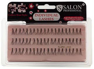 Накладные ресницы Salon Professional Flare Short, короткие черные