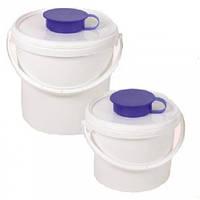 Ведро-диспенсер для дезинфицирующих салфеток в рулонах 09995-M (3.4 литра)