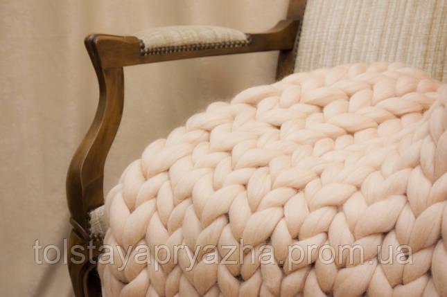 Плед з вовни (ніжний персик) 0,8х1,2 м, фото 2