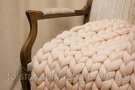 Плед из шерсти (нежный персик) 0,8х1,2 м