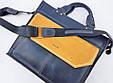 Мужская сумка из натуральной кожи VATTO Mk45.4 Kr600.190, синий с желтым, фото 2