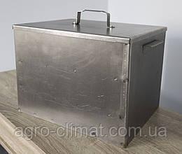 Коптильня средняя двухярусная из черного метала 410х300х300 | Решетки из нержавейки