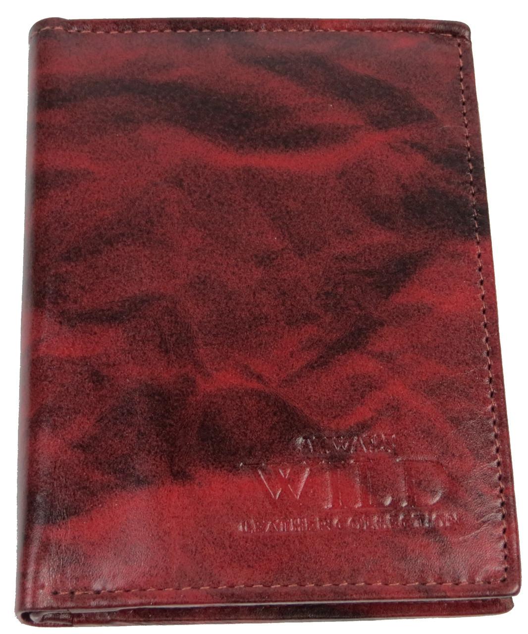 Портмоне вертикальное из кожи ALWAYS WILD SN4TT Red