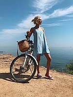 Женский голубой сарафан