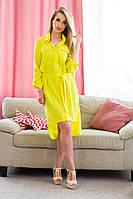 Комплект платья майка и платье рубашка с поясом , фото 1