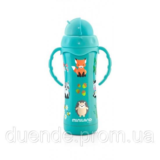 Термопоильник с трубочкой Miniland Baby Thermokid Aqua / Min 89189