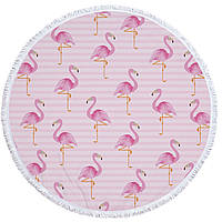 Пляжный коврик Фламинго 150 см, фото 1