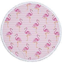 Пляжний килимок Фламінго 150 см