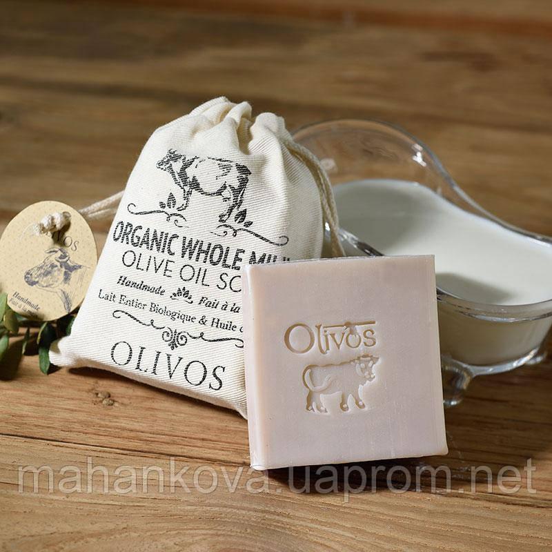 """Натуральное оливковое мыло Olivos """"Цельное молоко"""" Olivos Oil Organic Whole Milk  150 гр"""