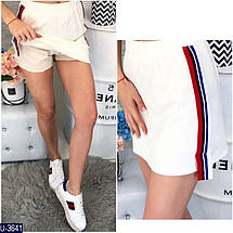 Красная трикотажная юбка, фото 3