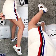 Красная трикотажная юбка, фото 2