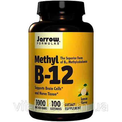 Jarrow Formulas, Метил B-12, со вкусом лимона, 1000 мкг, 100 пастилок, фото 2