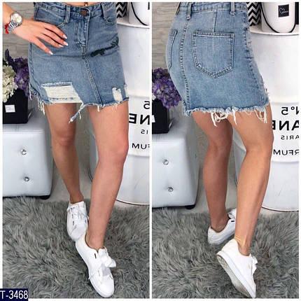 Джинсовая мини юбка, фото 2