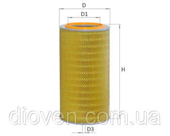 Элемент фильт. возд. КРАЗ 6505, ЯМЗ (596х280х171) одинарный (AF 172) (пр-во Украина) (Арт. 6510-1109080)