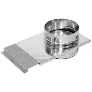 Шибер для димоходу d 150 мм; 0,8 мм з нержавіючої сталі AISI 304 - «Версія-Люкс»