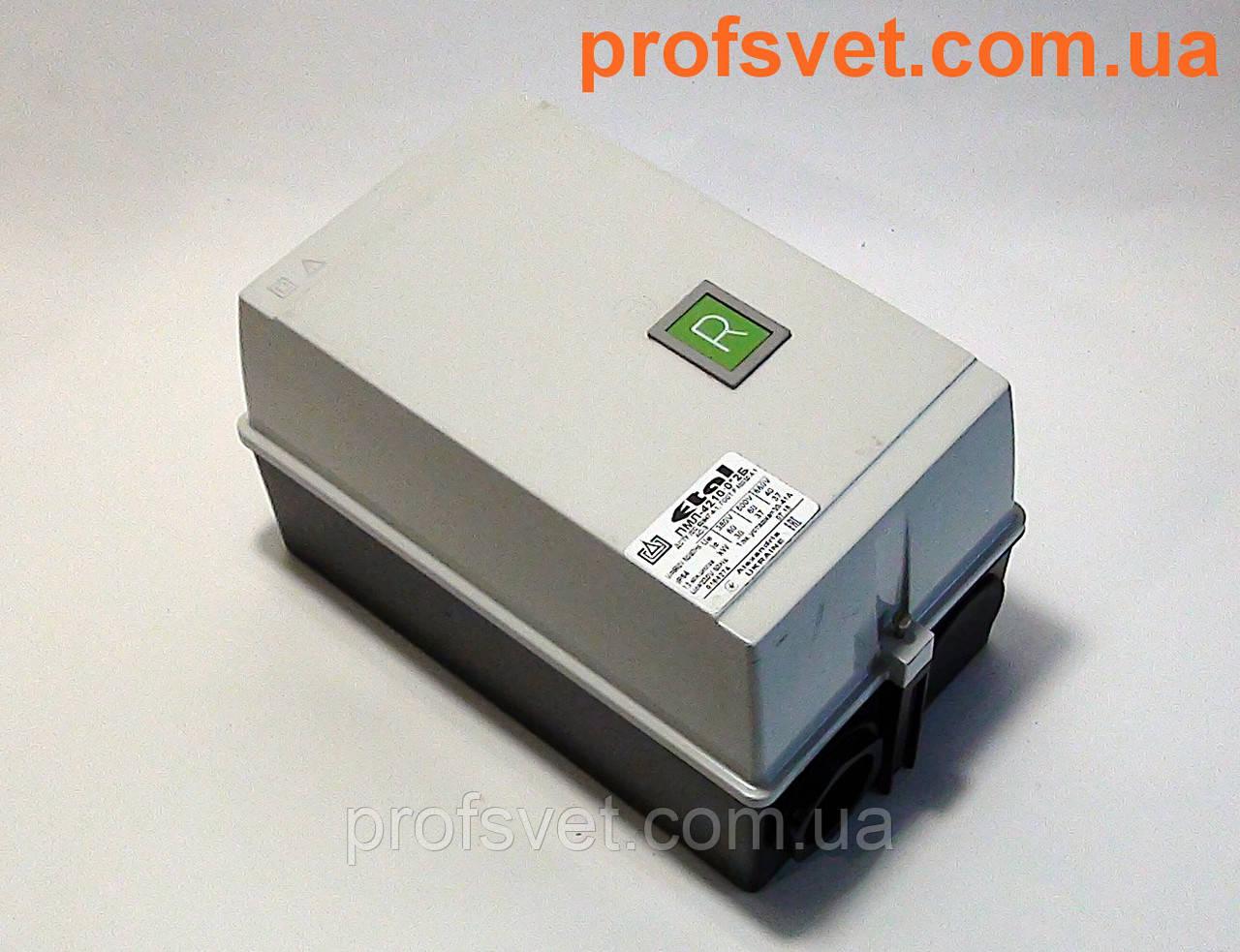 Пускатель ПМЛ-4210 корпус IP-54 63А кнопка Реле