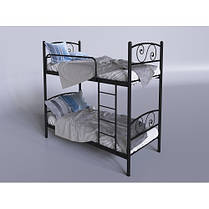 Двухъярусная кровать Виола Черный Бархат 80*190 (Tenero TM), фото 2