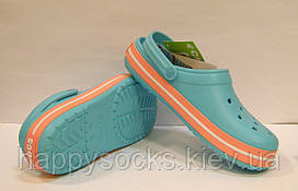 Обувь Crocs Crocband голубого цвета