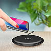 Беспроводное зарядное устройство Usams Round Wireless Fast Charging 10W (US-CD30) QI Black, фото 3