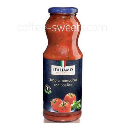 Томатный соус с базиликом Italiamo «Sugo al pomodoro con Basilico» 700мл, фото 2